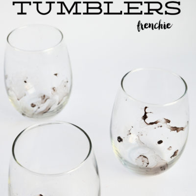 DIY Marbled Tumblers