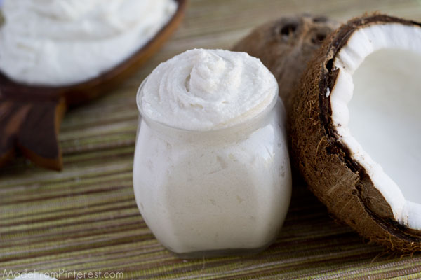 Homemade Shaving Cream - This natural exfoliating shaving cream removes dead skin cells and softens the hair on your legs giving you a closer shave. It is quick, easy and inexpensive to make, you will never go back to OTC shaving cream again!