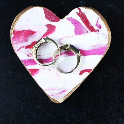 Marbled Valentines Ring Dishes