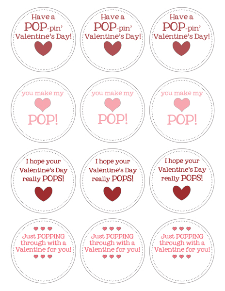 picture relating to Popcorn Valentine Printable called Popcorn Valentines - TGIF - This Grandma is Enjoyable