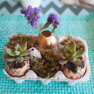 Easter Eggshell Planters