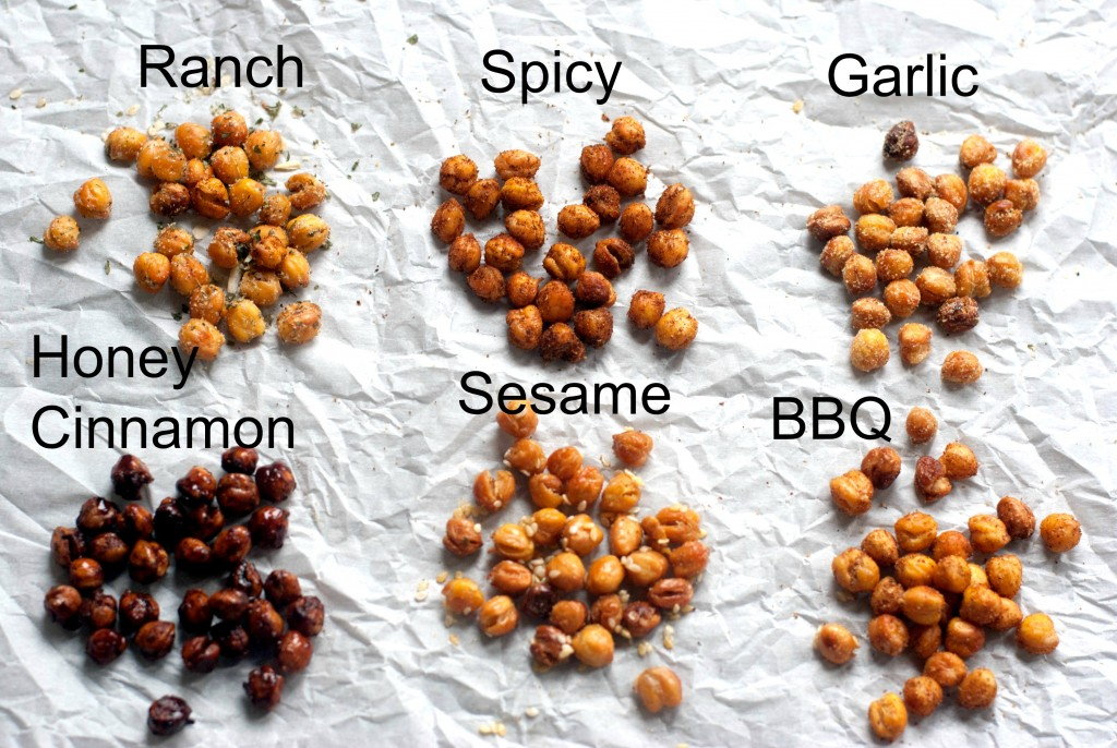 Roasted Chickpeas Recipe in Six Flavors. I promise this will become your new favorite snack!