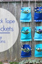 Check out these awesome DIY Planters made out of duck tape! I am so excited for spring!