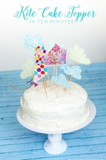 Learn how to make these adorable kite cake toppers in just ten minutes!