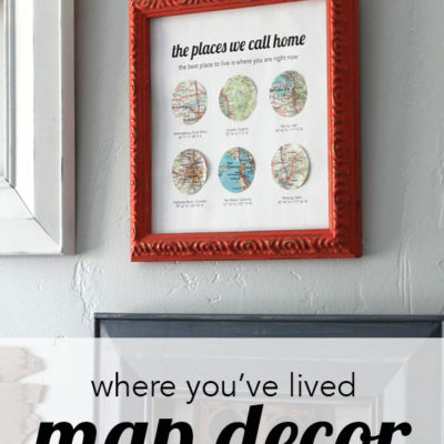 The Places You've Lived Map Decor