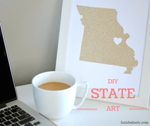 DIY State Art --- Such an easy gift idea, or perfect for a gallery wall!
