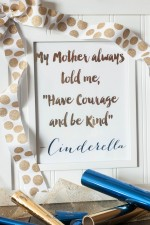 Come check out how to make a foil print with the new Heidi Swapp Minc Foil Applicator. PLUS get this FREE Cinderella quote printable!