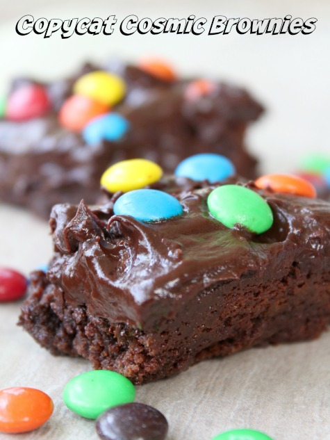 Copycat Cosmic Brownies are chewy, moist and chocolaty perfection from Marye of Restless Chipotle for MadefromPineterest.net