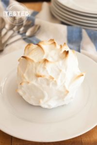Individual Mini Baked Alaska Ding Dongs are a perfect summer dessert you can have stashed in freezer and be at the ready. Individual Mini Baked Alaska Ding Dongs are Hostess Ding Dongs transformed into an elegant dessert that will be waiting in your freezer. They will be the perfect treat on a hot day. Just 2-4 minutes in the oven or with a kitchen torch, and dessert is ready.
