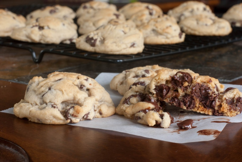 Nothing Fancy.  Just EASY chocolate chip cookies that come out soft and fat.