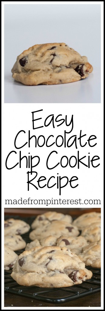 """Today is all about EASY.  No """"special"""" or """"secret"""" ingredients that you don't have in your cupboards.  Just plain ole ingredients that make cookies soft and fat like these."""