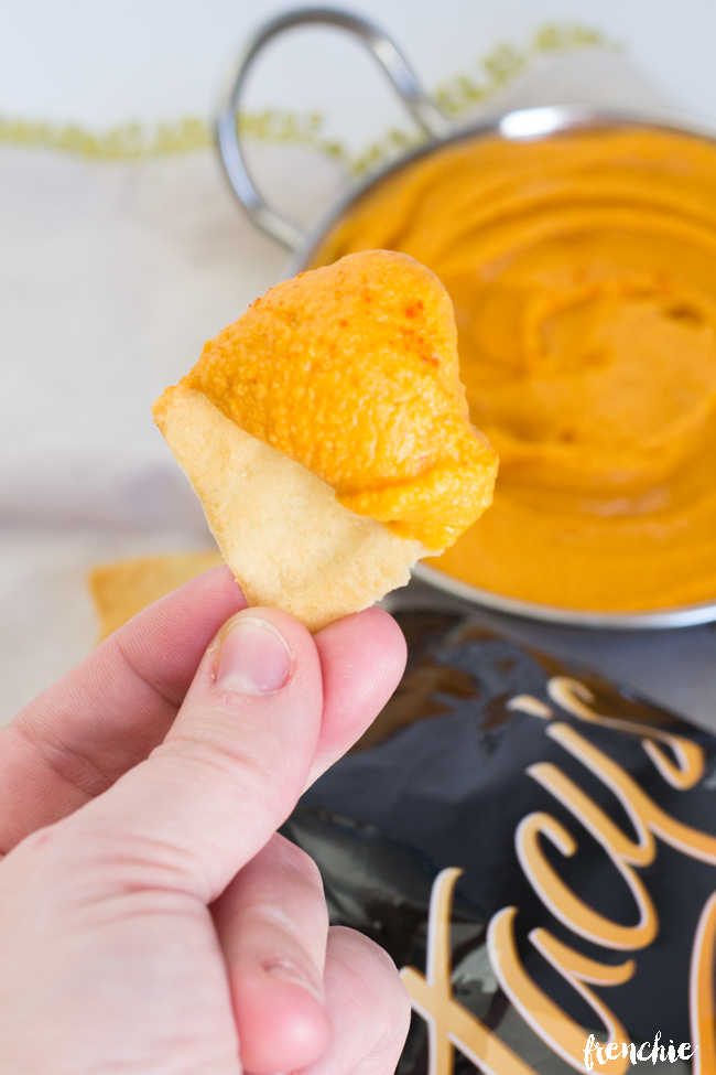 Make this easy and delicious Roasted Red Pepper Hummus. By Frenchie for Made From Pinterest