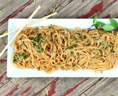Easy Thai Peanut Sesame Noodles