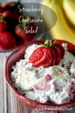 The cheesecake pudding in this Strawberry Cheesecake Salad makes it even creamier!