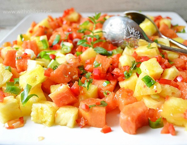 Sweet Chili Paw-Paw and Pineapple Salad