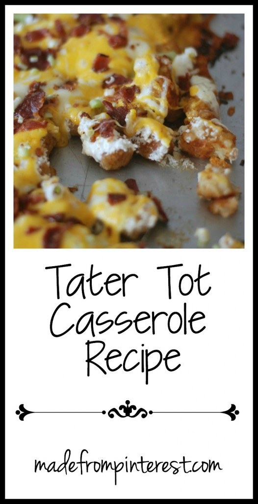 Don't judge me that I love Tater Tots. And you will too after you try this Tater Tot Casserole Recipe!