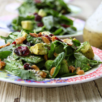 Cranberry Avocado Salad with Sweet White Balsamic