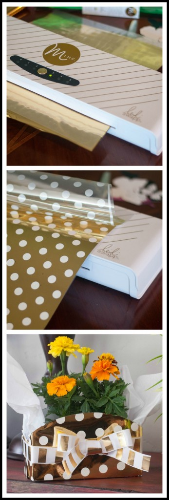 Make this DIY Gift Box in minutes with the Heidi Swapp Minc Foil Applicator. Big on easy but big on impressive!  #hsminc