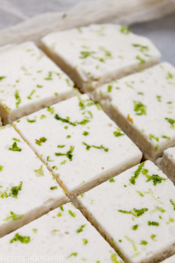 Healthy No Bake Key Lime Bars