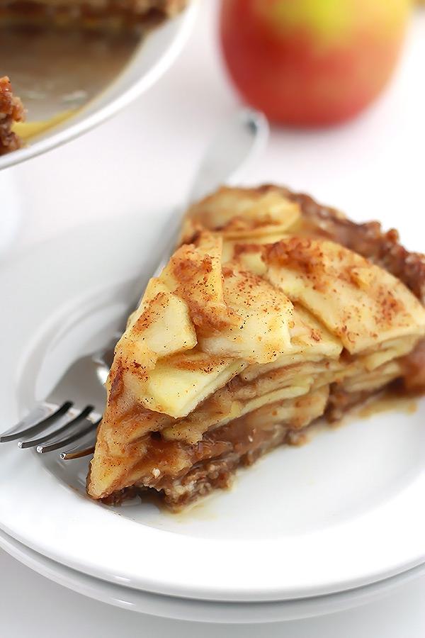 Raw Salted Caramel Apple Pie - TGIF - This Grandma is Fun