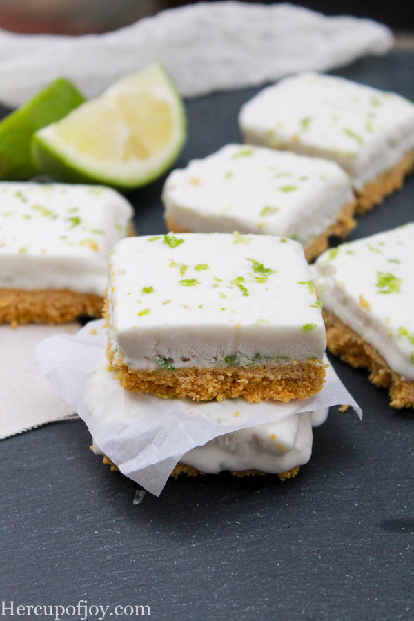 These low carb key lime bars are no bake! making them one of my favorite go-to desserts without the guilt!