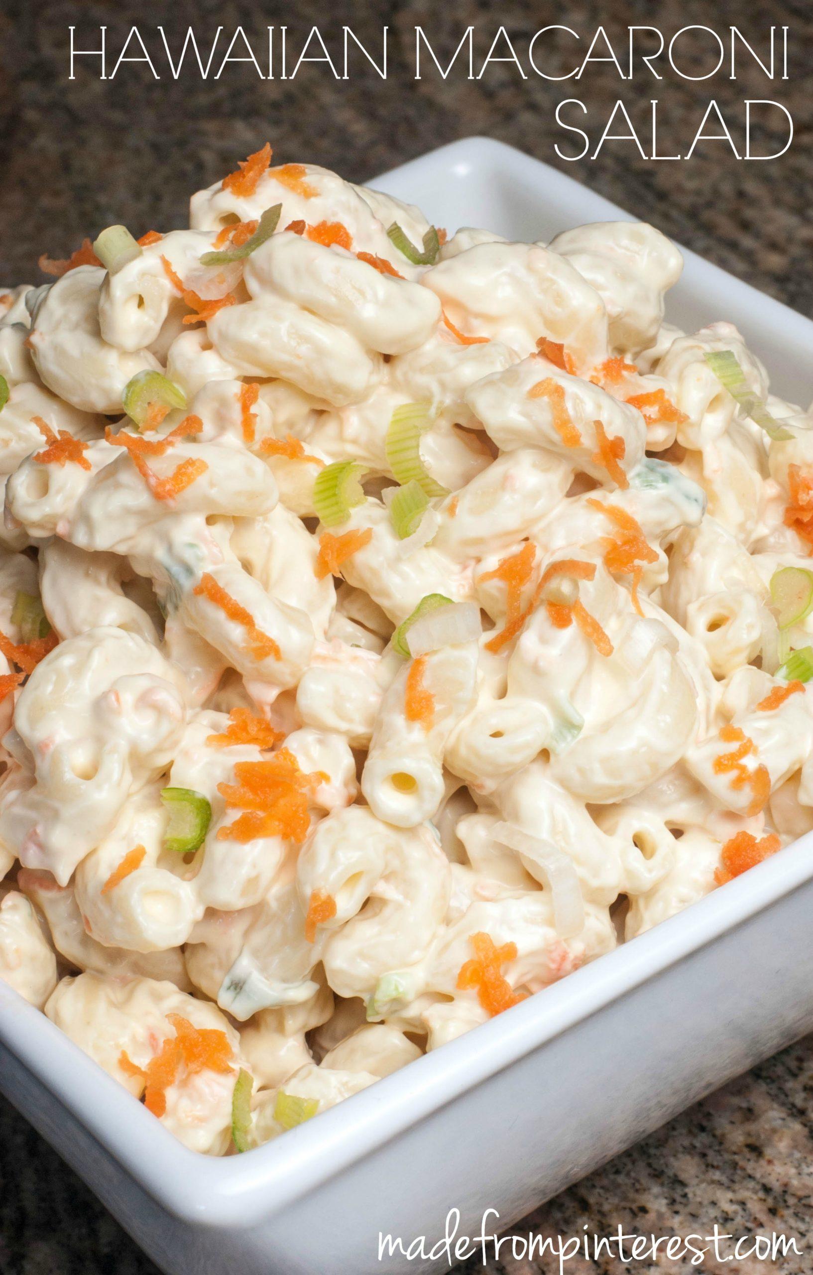 Hawaiian Macaroni Salad Recipe Vinegar