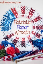 Make this bold Patriotic Paper Wreath with foil with the UH-mazing Minc Foil Applicator machine by Heidi Swapp!