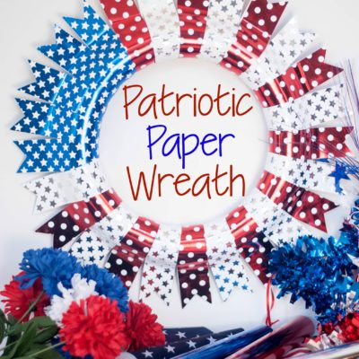 Patriotic Paper Wreath