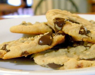 peanut butter chocolate chip cookies perfect for lunchboxes!