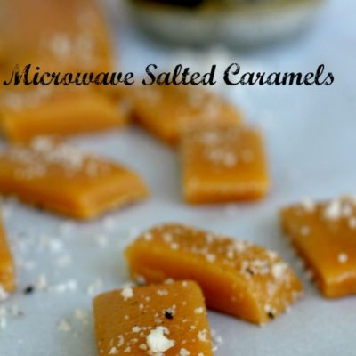 Microwave Salted Caramels