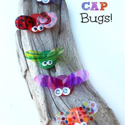 Make Bottle Cap Bugs!