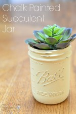 These cute chalk painted succulent jars are the perfect new home for your succulents to shine!