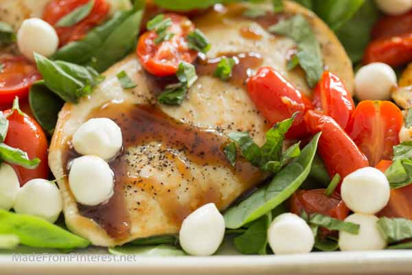 Better than any restaurant, Balsamic Glazed Caprese Chicken takes 30 minutes to make!