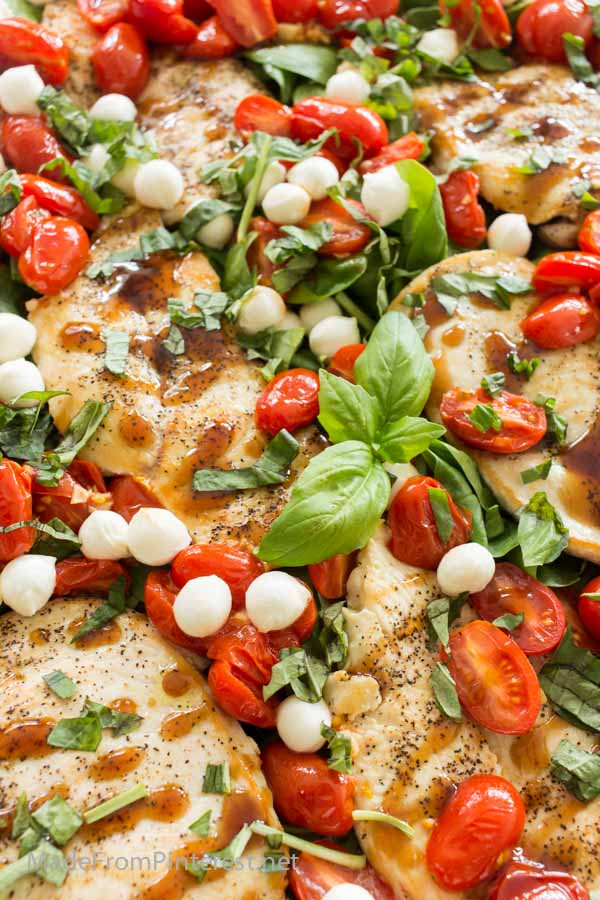 Balsamic Glazed Chicken Thighs With Tomatoes And Spinach Recipes ...