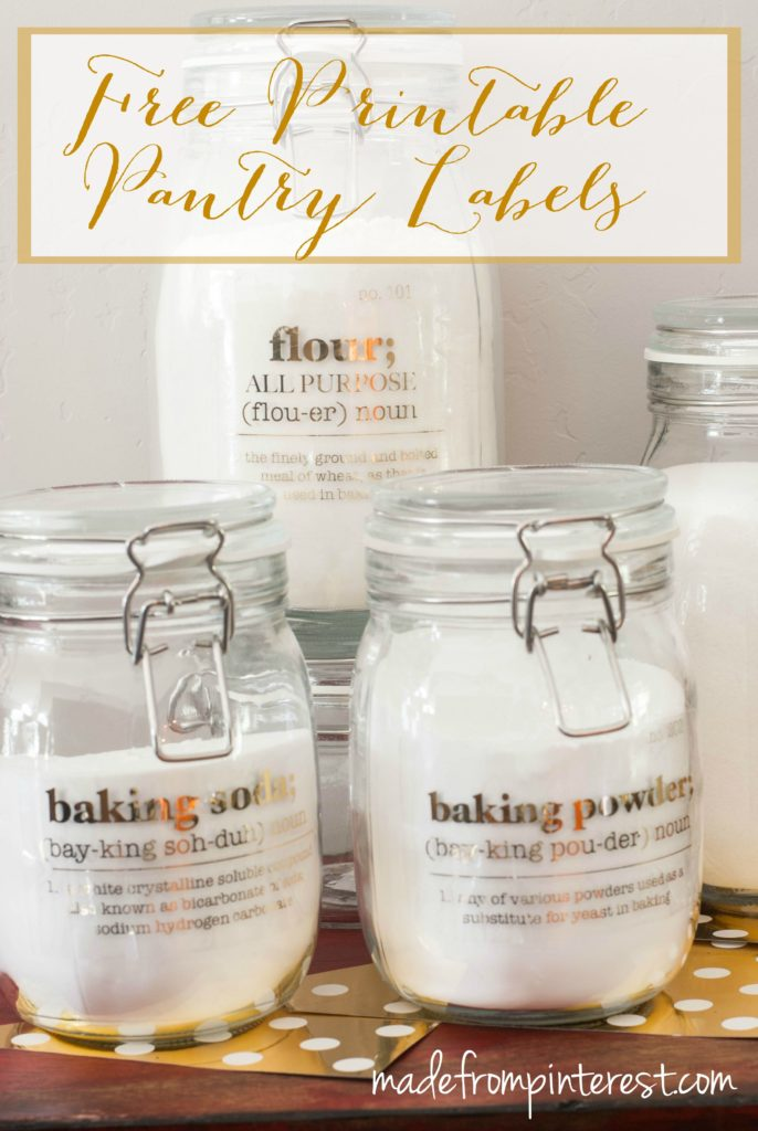 Free Printable Pantry Labels Made From Pinterest