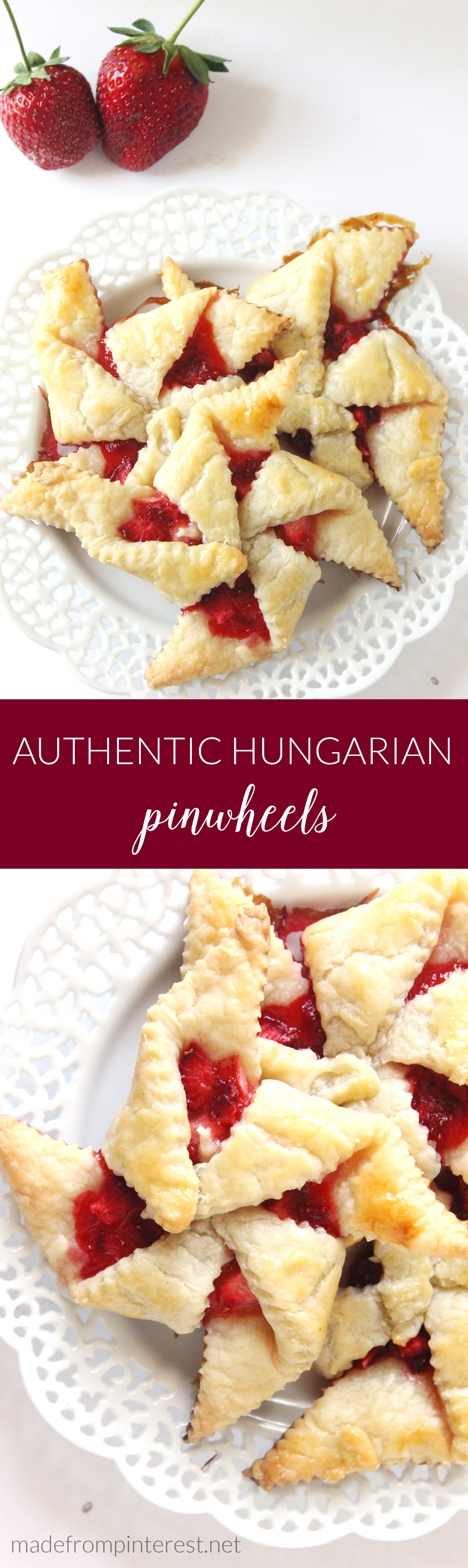 Learn how to make authentic Hungarian pinwheels! Using just 6 ingredients, these easy-to-make pinwheels are sure to become a family favorite in no time!