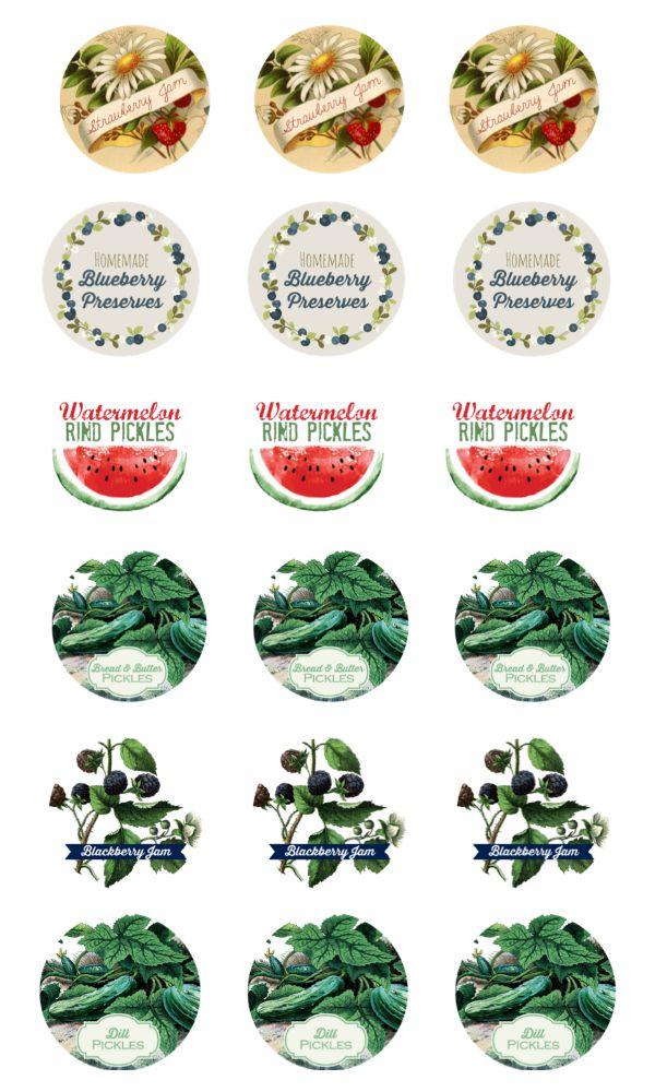 Free Printable Canning Jar Labels