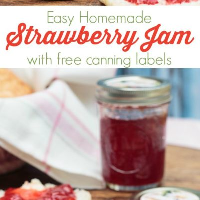 Homemade Strawberry Jam & Canning Printables