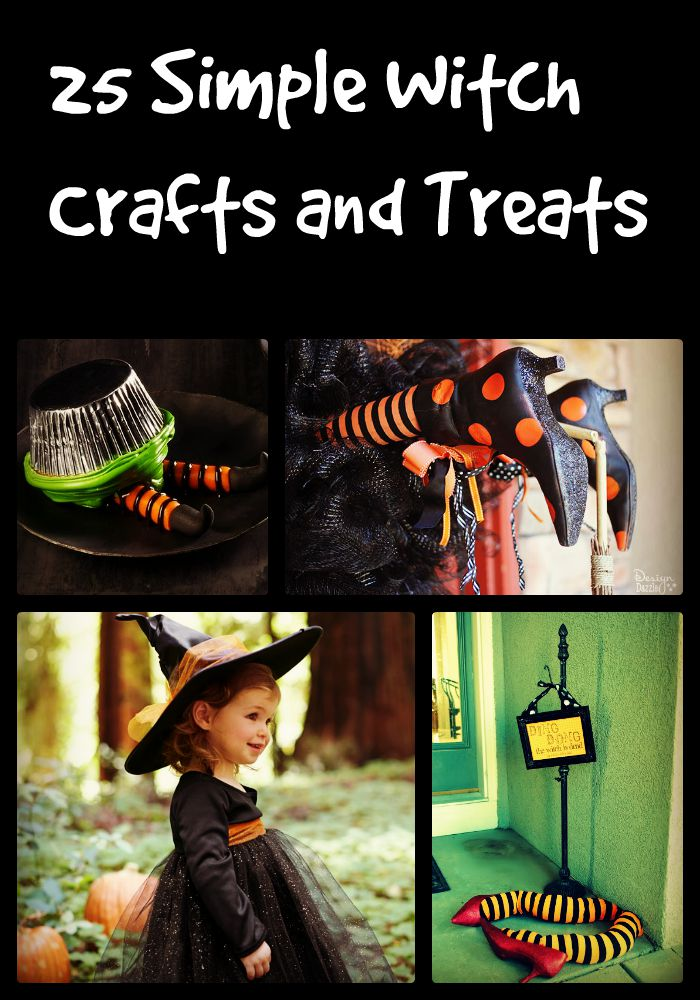 25 Simple Witch Crafts and Treats Collage