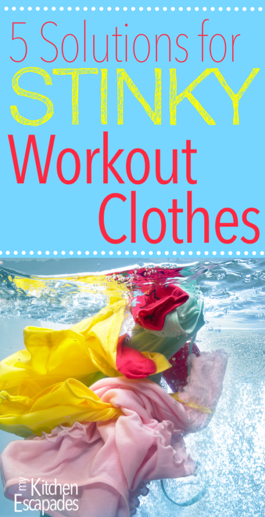 [Pin It] If you workout or exercise in any way, you know how difficult it can be to properly wash and clean your workout clothes, especially to get rid of the stink that seems to linger no matter what you do. I have found the secret 5 Solutions for Stinky Workout Clothes you are looking for!