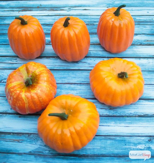Metallic Foiled Pumpkins