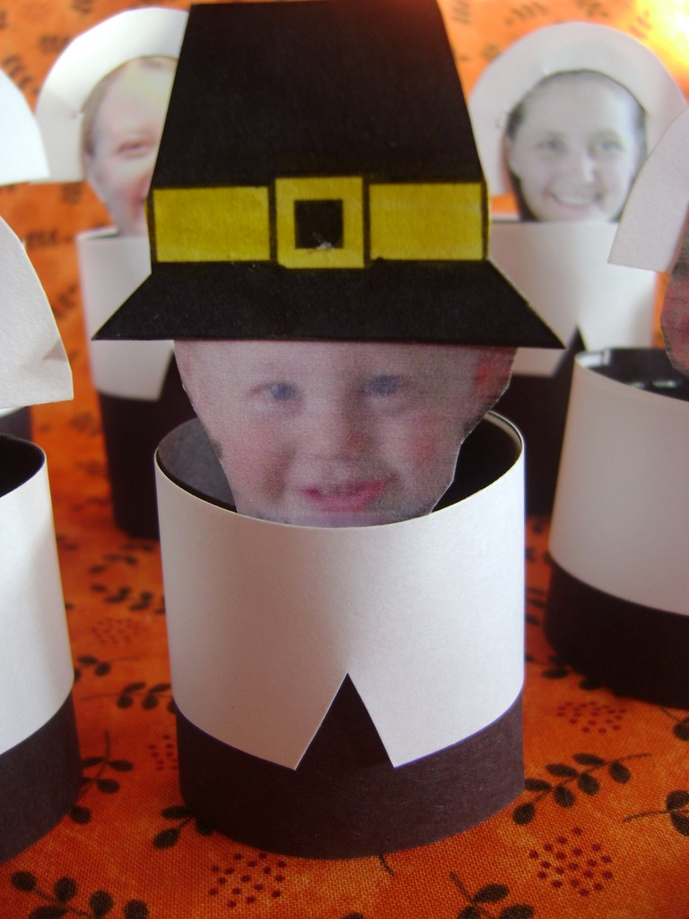 Personal Pilgrim Placecards are such a cute way to have all the kids know where to sit.