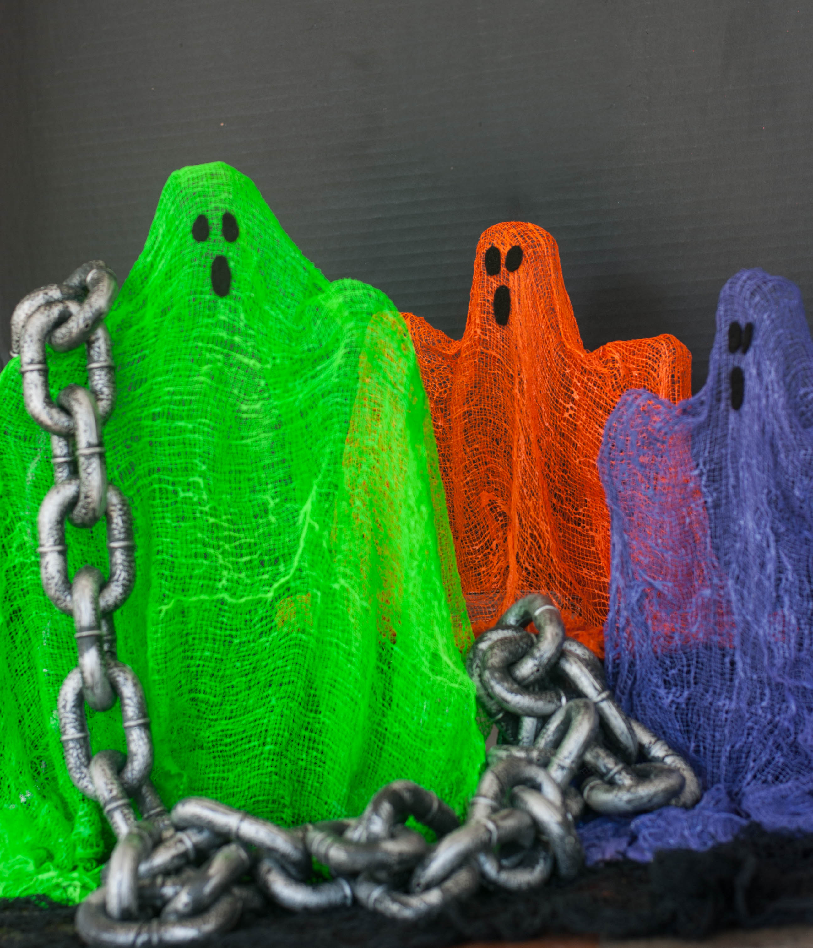 Made in bright Halloween colors, these stand up ghosts are bringing color back to life! Get it?