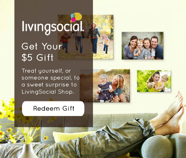 Treat yourself or someone you know to a sweet surprise....with this $5 gift to LivingSocial Shop!