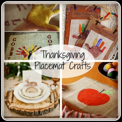 Thanksgiving Placemat Crafts