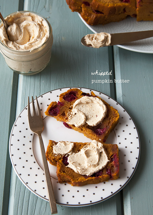 This whipped pumpkin butter is a great spread for toast.