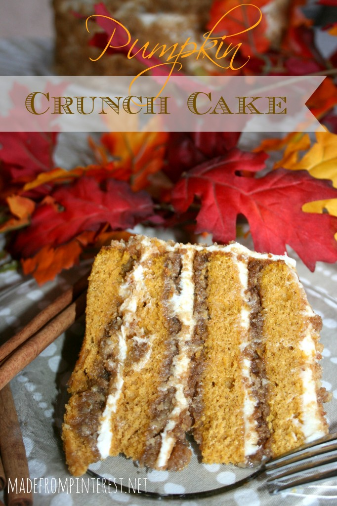 If you are a texture person this Pumpkin Crunch cake is sure to please your senses.