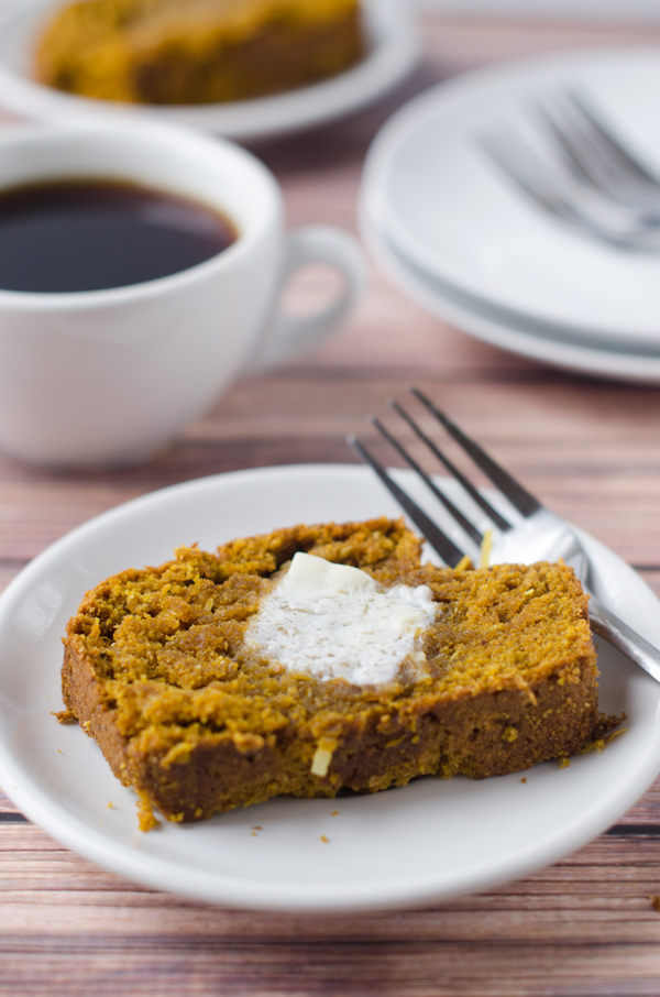 Vegan Pumpkin Coconut Bread is a really good reason to start eating healthy.