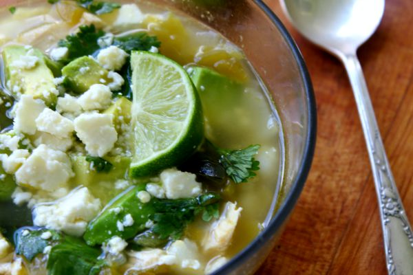 Chicken Pozole Verde is a quick and easy Southwestern soup with a garlicky, spicy broth. So easy to make!