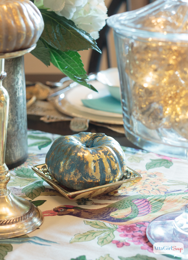 Painted metallic foil pumpkins made from pinterest Metallic home decor pinterest